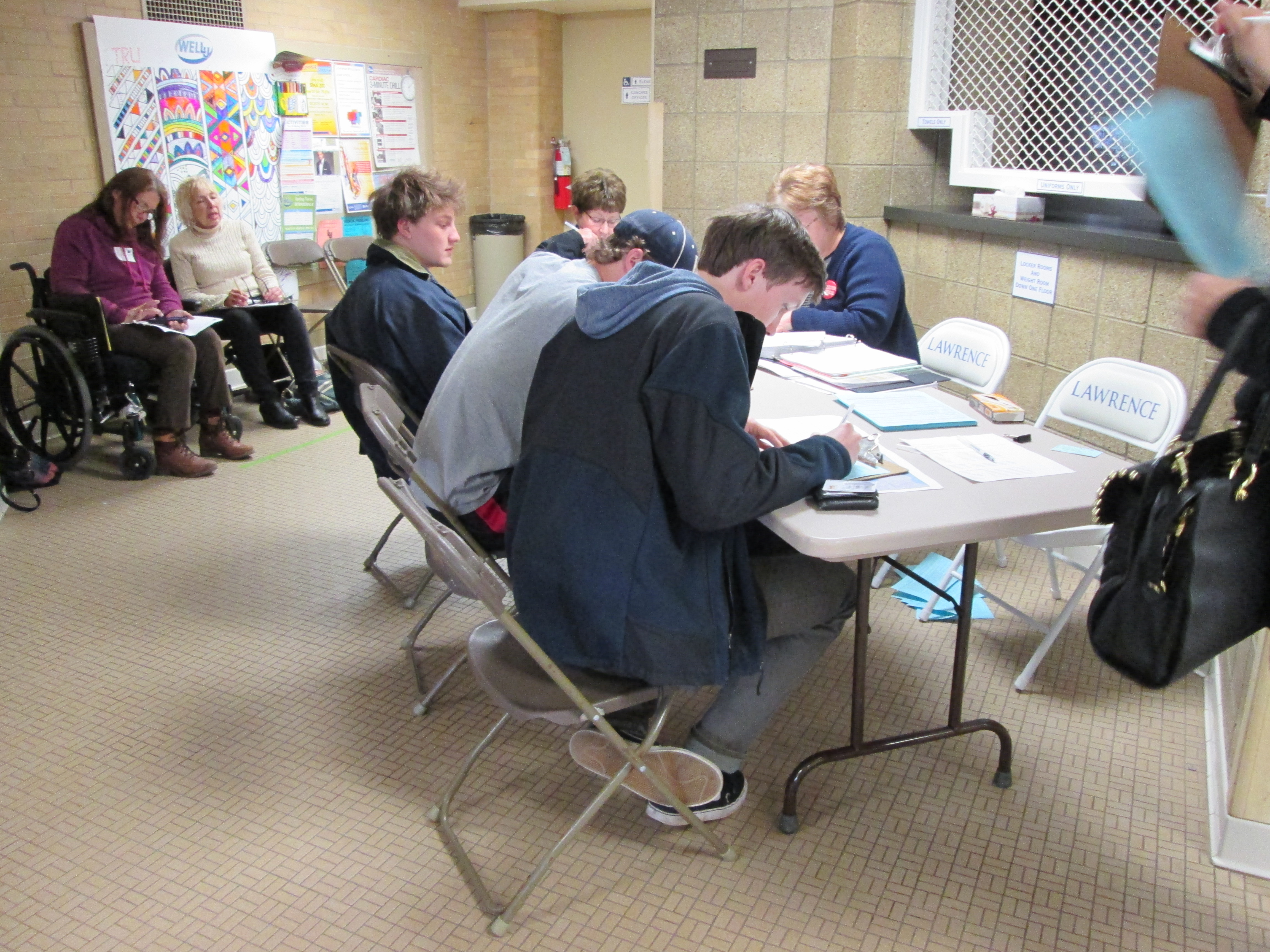 Lawrence students register to vote.  Photo courtesy of Sarah Perret-Goluboff