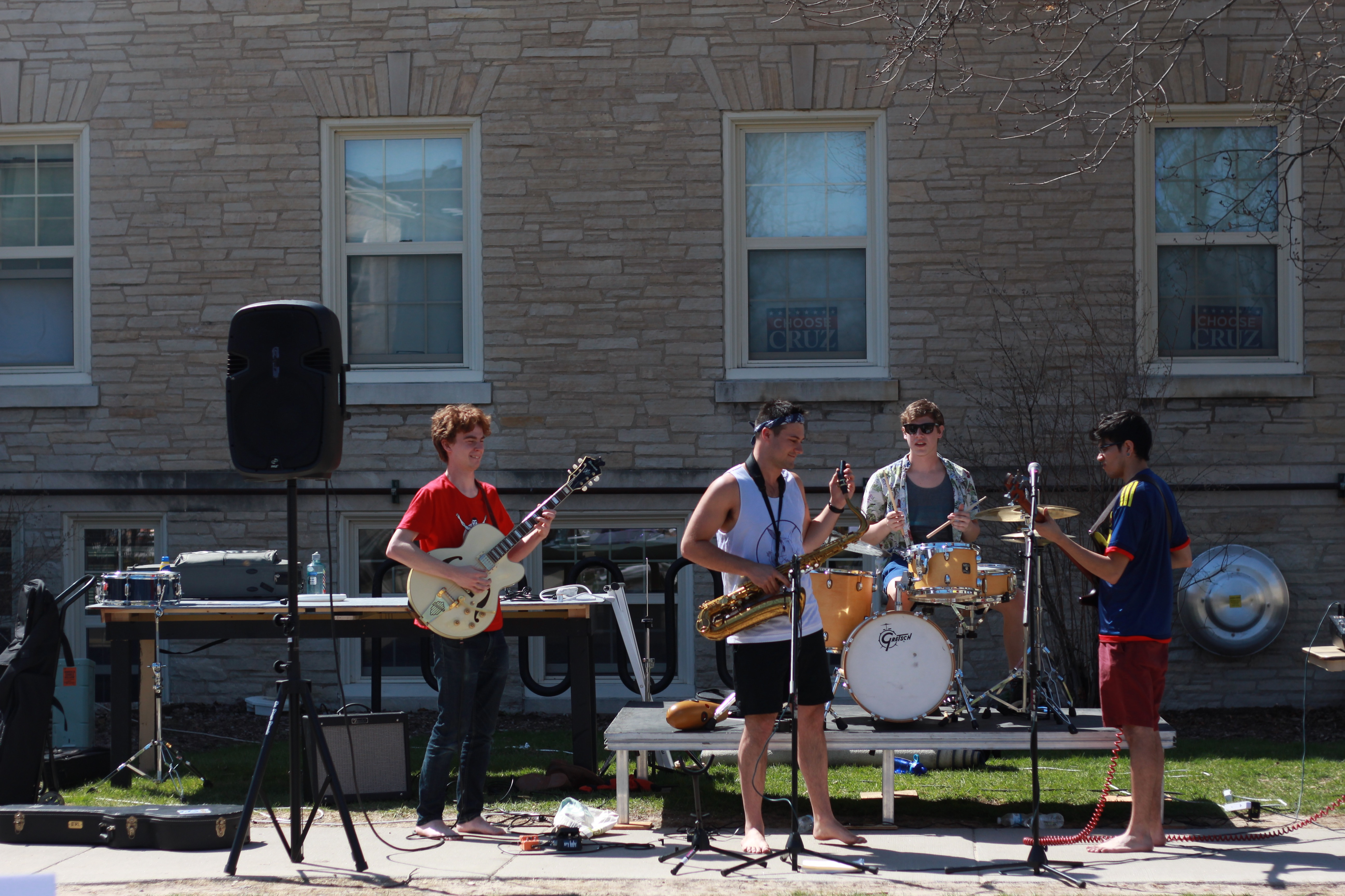 Campus band Rat Pack performs at Relay for Life on Saturday, April 16.