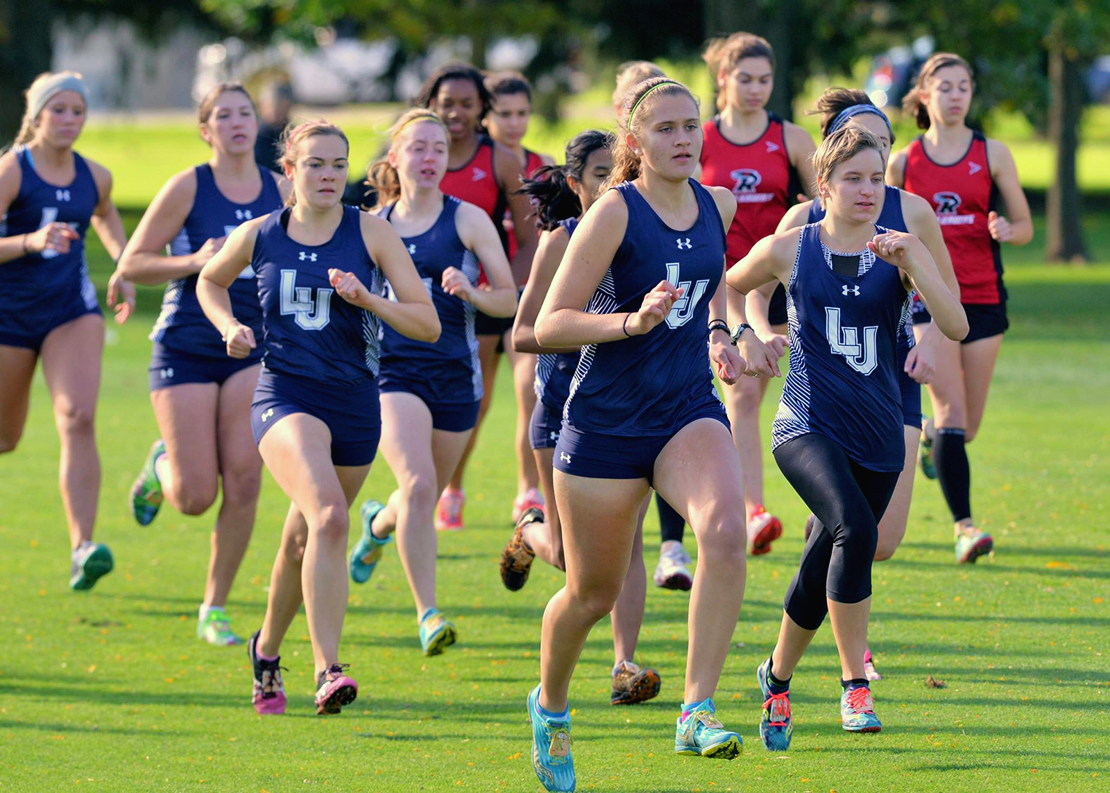 Women's Cross Country took second in the Gene Davis invitational on Oct. 8. Photo courtesy of Paul Wilke