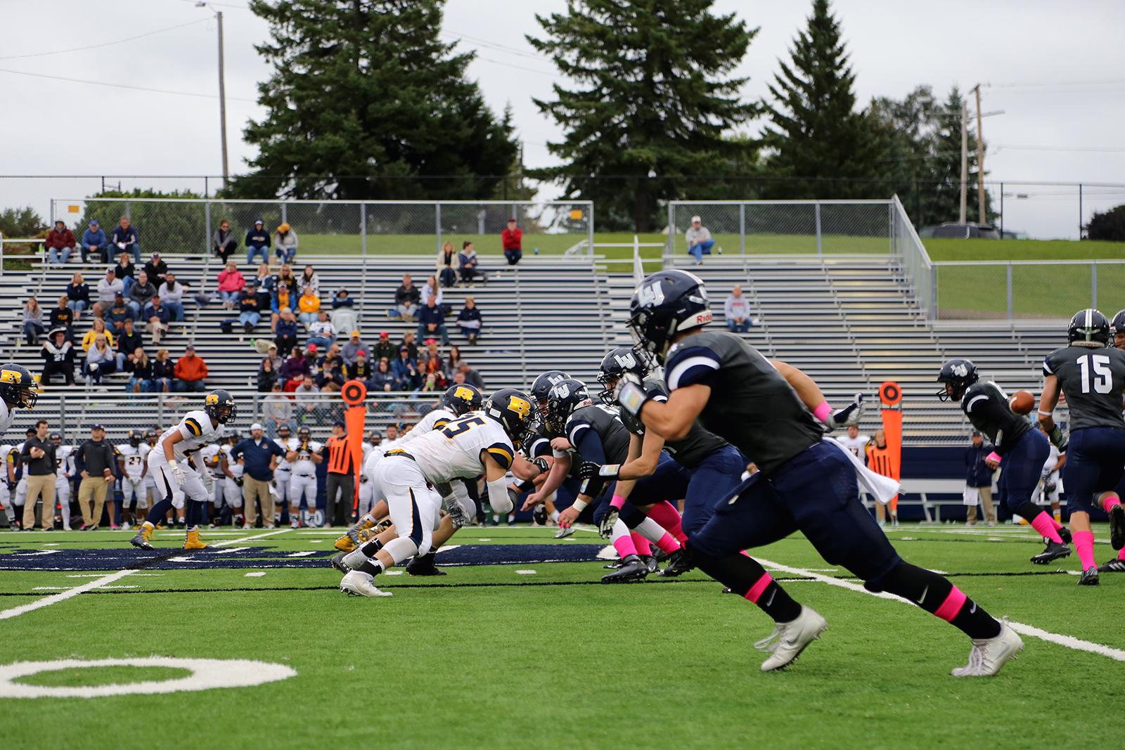 Lawrence football took down Beloit for the team's second win this season. Photo by Victor Nguyen