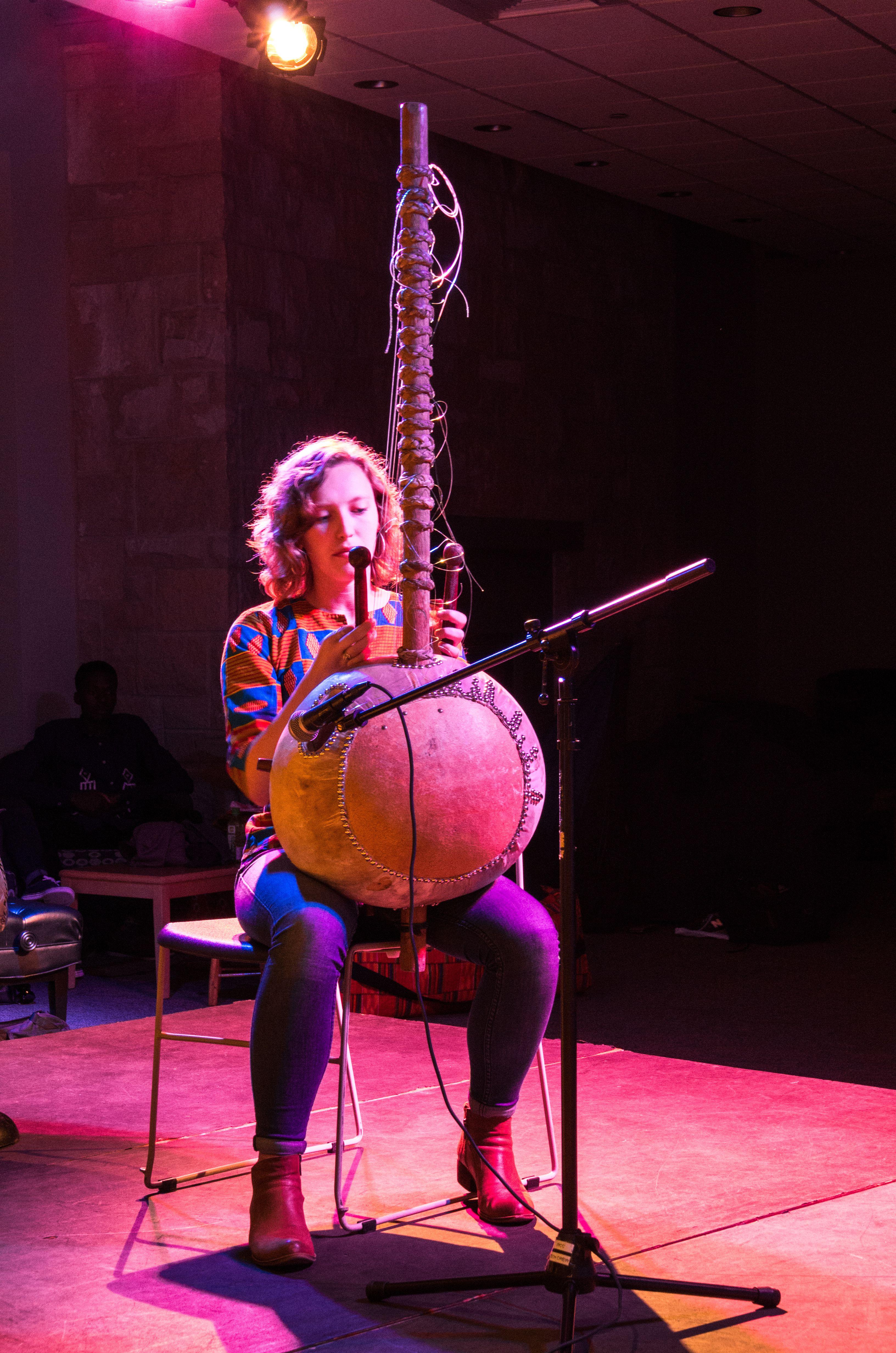Senior Torrey Smith plays the kora, a popular West African instrument.