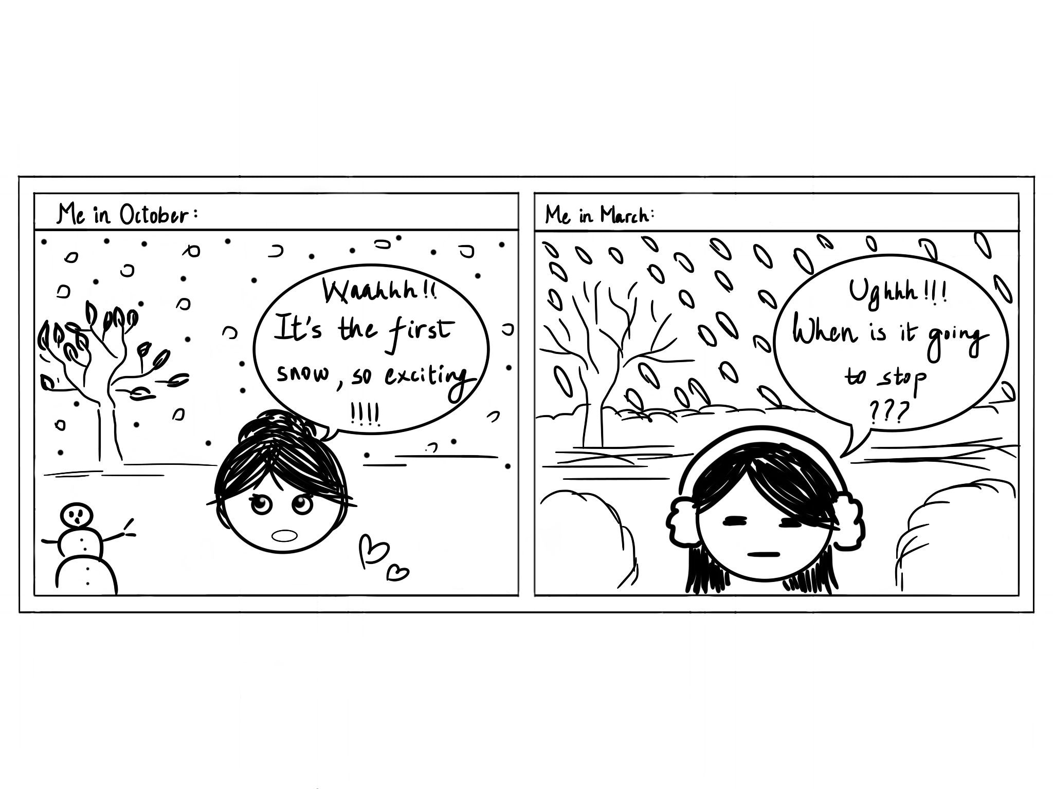 Comic about snow