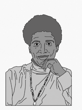 Drawing of Audre Lorde